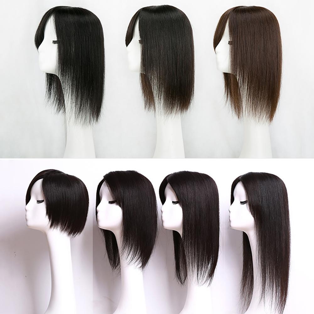 Hair-Topper LACE Human Women Straight for 100%Remy Toupee 6x11cm 10inch-20inch Pu-Base