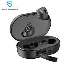 Soundpeats tws bluetooth 5.0 verdadeiro fones de ouvido estéreo sem fio trueshift 2 in-ear ipx7 tipo à prova dwaterproof água fone de ouvido c