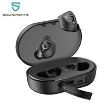 SoundPEATS auriculares TWS, inalámbricos por Bluetooth 5,0, intrauditivos estéreo Trueshift 2, IPX7, resistentes al agua, tipo C