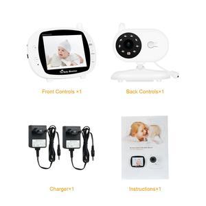 Image 5 - บันทึกเสียงทารกเด็กไร้สาย 3.5 นิ้วหน้าจอ LCD Audio Video Baby Monitor วิทยุพี่เลี้ยงเพลง Intercom บันทึกเสียงทารกกล้อง US Plug