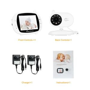 Image 5 - Babyphone Baby Camera Wireless 3.5Inch LCD Screen Audio Video Baby Monitor Radio Nanny Music Intercom Babyphone Camera US Plug