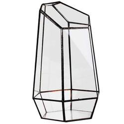 Dom szklarnia sześciokątny szklany wazon za opłatą miniaturowe ogrodowe Mini krajobraz w Doniczki i skrzynki do kwiatów od Dom i ogród na