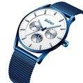 Высококачественные кварцевые часы BIDEN 2019  тонкие мужские наручные часы от ведущего бренда 30 м  водонепроницаемые  рождественский подарок  т...