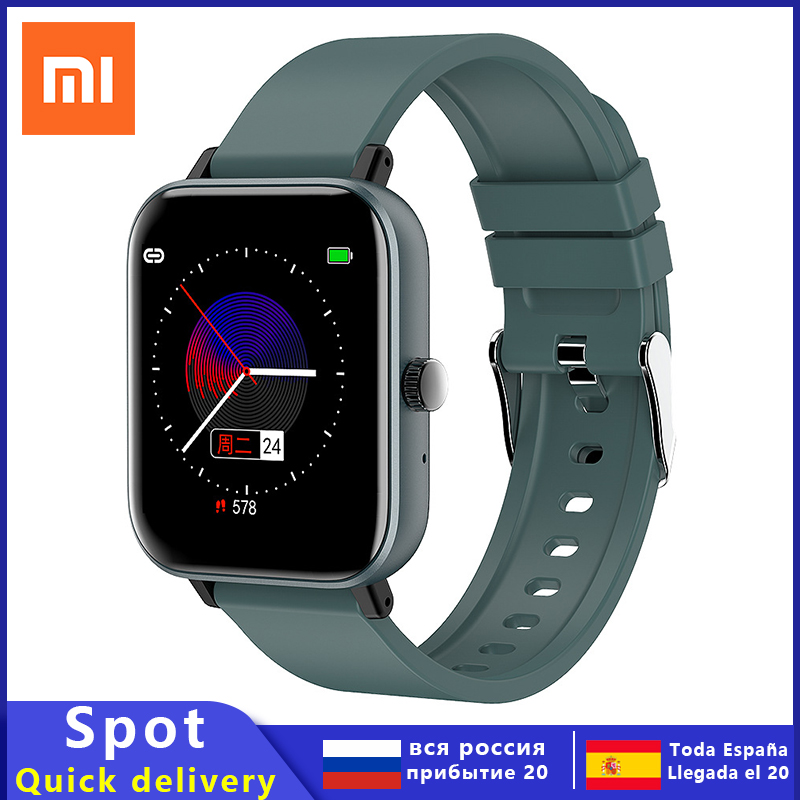 Xiaomi 1 4 inch Smart Watch Men Full Touch Fitness Tracker Blood Pressure Smart Clock Women GTS Smartwatch Bluetoot Phone watch