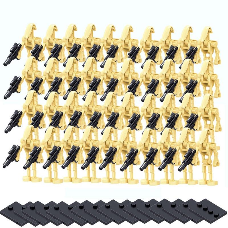 100 Pcs/lot Star Wars bataille droïde Combat Robot Starwars briques ensemble modèle blocs de construction modèle pour enfants cadeau jouets Br (lot de 100)
