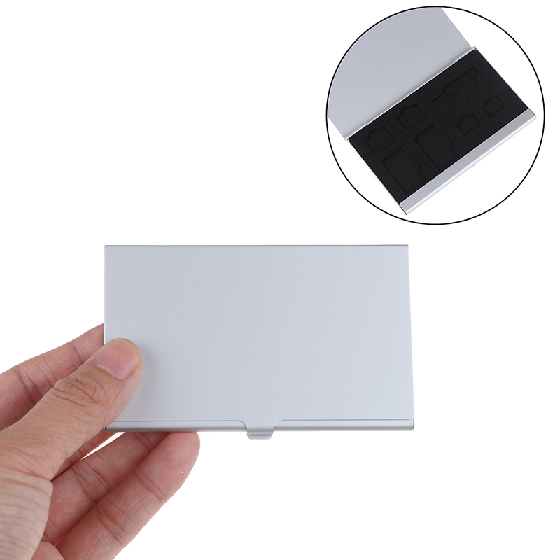 Aluminum Alloy Portable 3 In 1 Aluminum For SD Card Holder Memory Cards Storage Box Case Holder Protector Easy Carry
