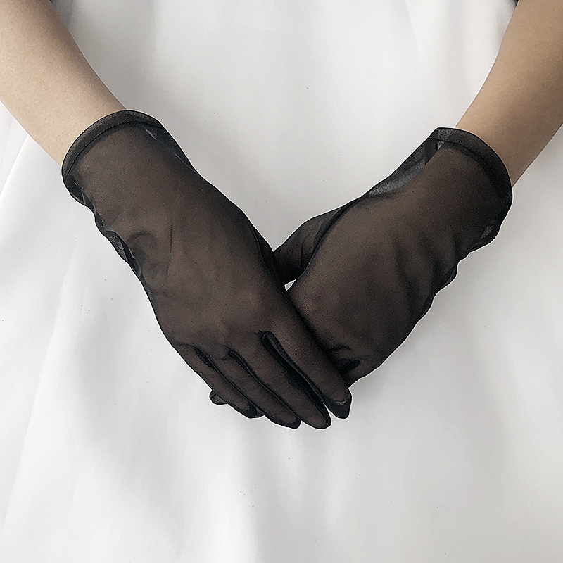 Women/'s Evening Bridal Wedding Party Dressy Lace Fingerless Gloves Mitten XR