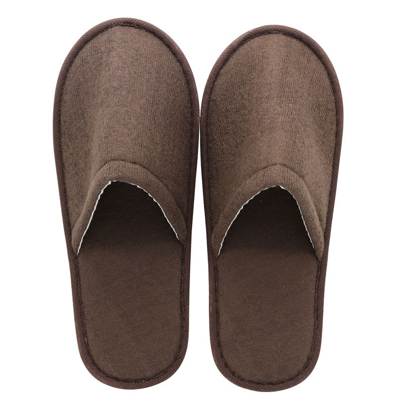 Men Slippers Shoes Classic Leather Closed Toe Indoor House Home Slippers US 7-9