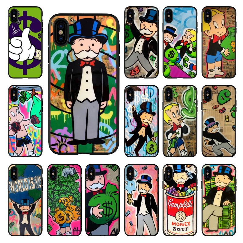 Cartoon Dollar Monopoly Coque Shell Phone Case For Apple Iphone 11 8 7 6 6s Plus X Xs Max 5 5s Se Xr 11 Pro Cover Coque Shell Phone Case Covers Aliexpress