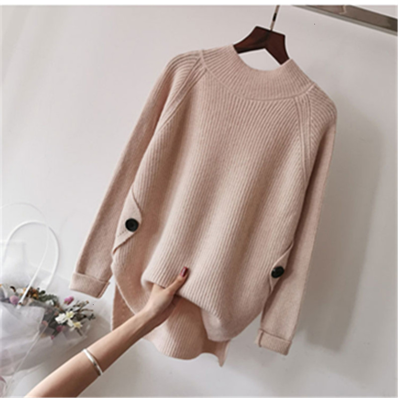 O-Neck Harajuku Fall Stripe Loose Solid Casual Long Sleeve Knitted Sweater Pullover Fashion Winter Pull   Femme Female Women New