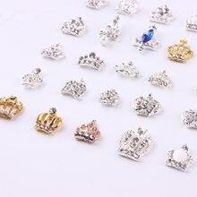 1000 wzory wysokiej 100 sztuk 3D zdobienie paznokci dekoracje rhinestone korona biżuteria z Shinning kryształki do stylizacji paznokci urok ML1-Ml200