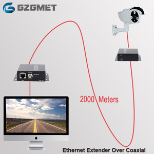 Image 1 - 2km Ethernet Extender Over IP Coassiale Network Extender 1080p Video Converter Trasmettitore Ricevitore Supporto HIKVISION Dahua