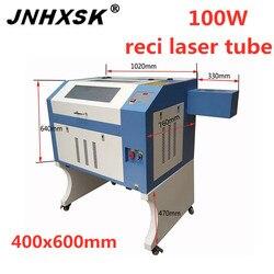 Akrylowe z tworzywa sztucznego z drewna pcv 4060 CO2 grawerowanie laserowe i maszyna do cięcia 100W do sklejki z drewna cena maszyny do cięcia