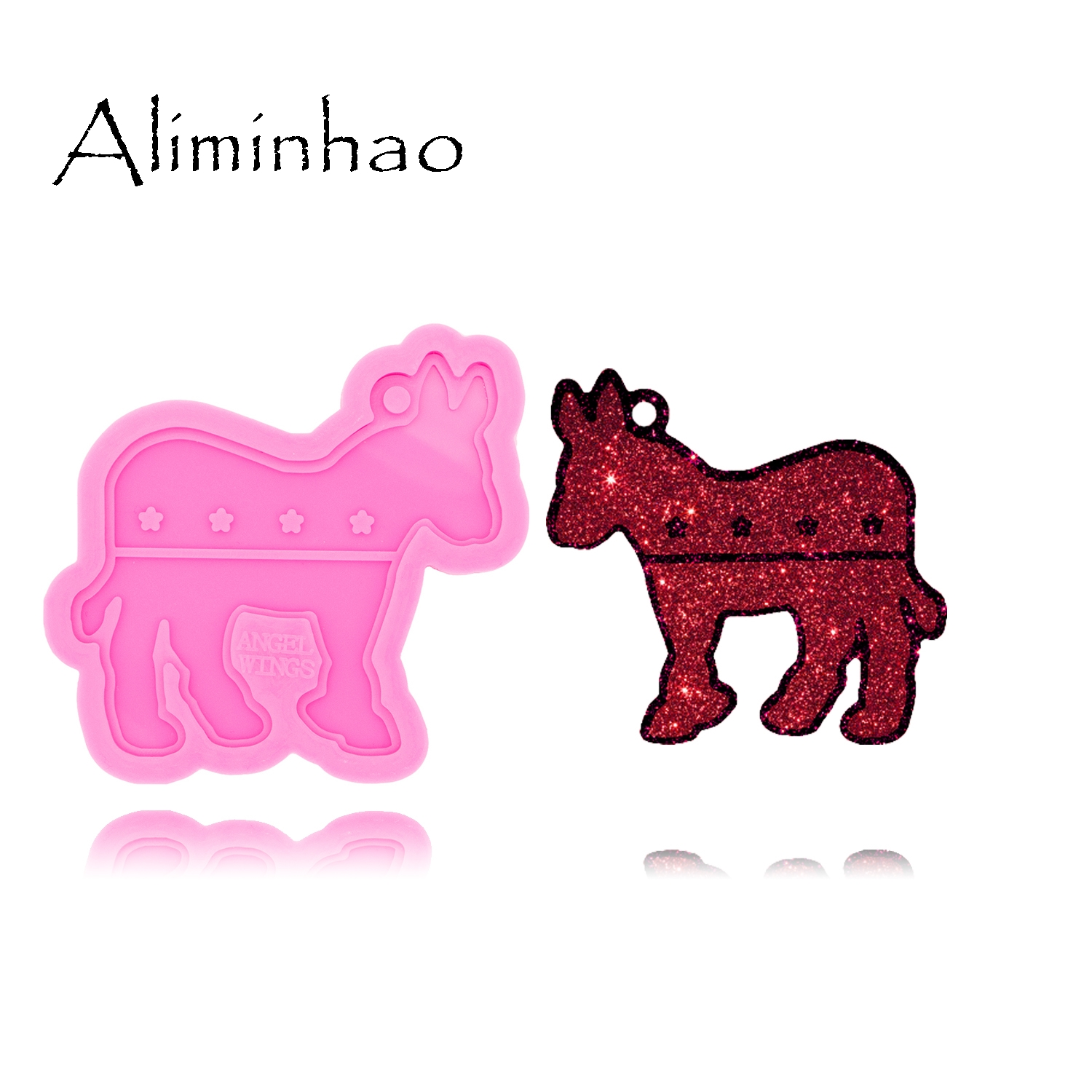 DY0389 Donkey Mold Decoration Keychains Mould Resin Silicone Epoxy For Jewelry Shiny Glossy Finish Aliminhao Suitable Polymer|Cake Molds| |  -
