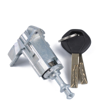 Left Car Door Lock Core Driver Cylinder Barrel Assembly With 2 Keys For BMW X3/X5