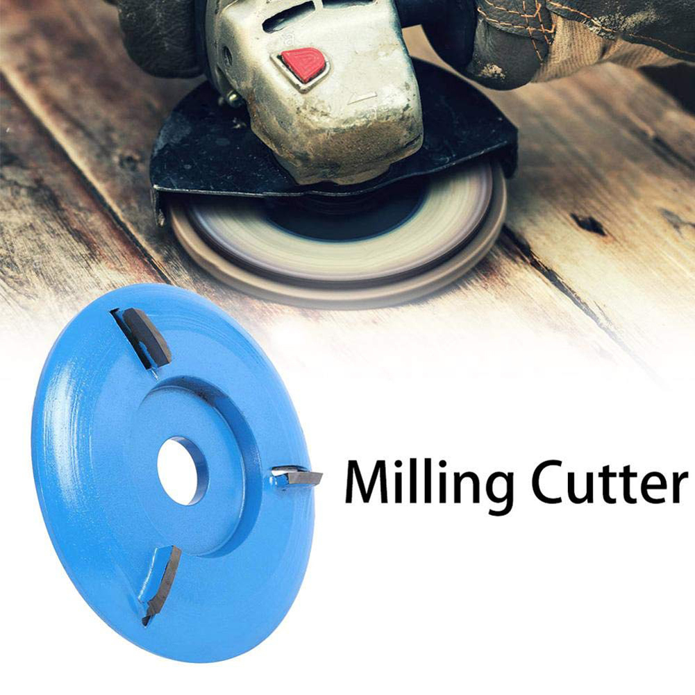 16mm Arc/Flat Teeth Plane Wood Carving Disc Tool Milling Cutter For Aperture Angle Plane Three Teeth For Woodworking