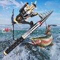 Рыболовная удочка  комбинированная Удочка + Рыболовная катушка + рыболовная леска  набор  сверхпрочная телескопическая удочка из углеродно...