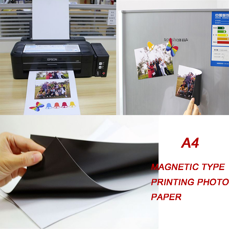 Hot A4 magnetic photographic Paper A4 4R  inkjet printing photo paper glossy matte stickers diy fridge magnet