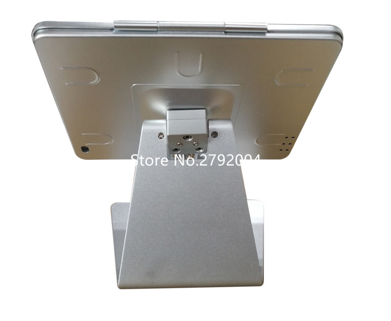 for ipad 2/3/4/air desktop kiosk tilting tablet enclosure secure for ipad desk stand support
