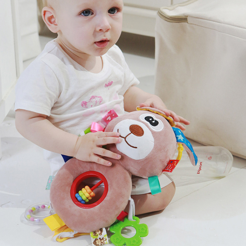 Baby Kids Rattle Toys Infant Baby Toys Gifts Cartoon Animal Plush Hand Bell Baby Stroller Crib Hanging Rattles