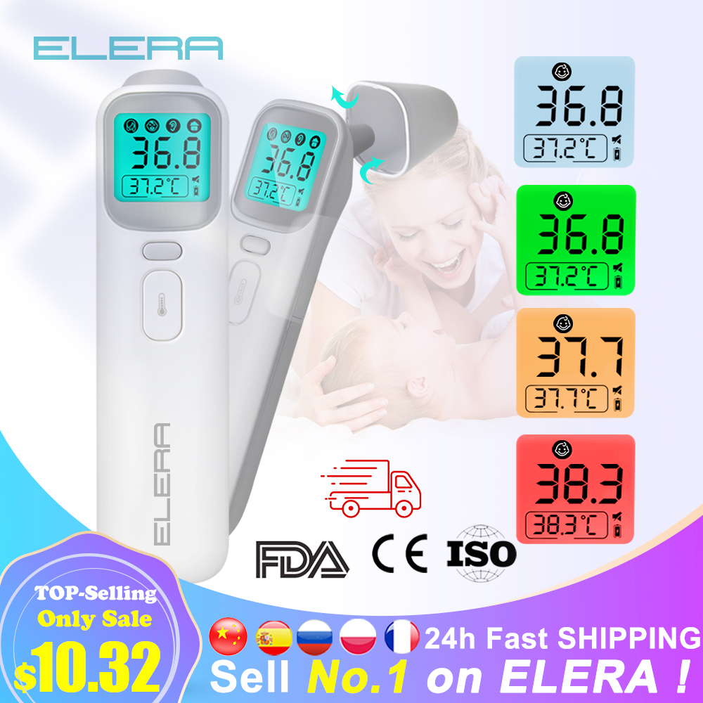 ELERA Baby Thermometer Infrared Digital LCD Body Measurement Forehead Ear Non Contact Adult Fever IR Children Termometro|Thermometers| - AliExpress