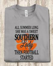 Clemson Tigers All Summer Long She Was A Sweet Southern Lady Then Footbharajuku Streetwear Shirt Mented T-Shirt(China)