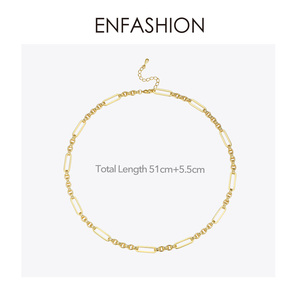 Image 5 - ENFASHION Long Link Chain Choker Necklace Women Gold Color Statement Necklace Lady Fashion Femme Jewelry Dropshipping P193059