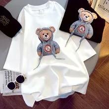 Graphic Tee Tshirts Brushed Top Woman Spring Summer Short-Sleeved-Print Korean-Version