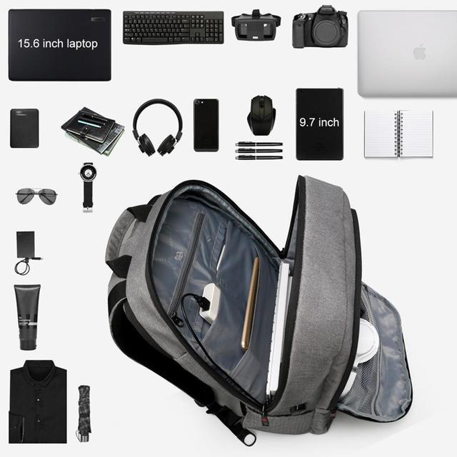 Tigernu Large Capacity USB charging backpack bag set 3
