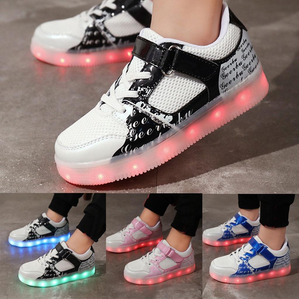 Fashion Children's Rechargeable Light Shoes Non-Slip Breathable Casual Shoes Children Casual Shoes  Children's Shoes