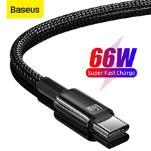Câble USB Type C Baseus 6A pour Huawei P40 Pro Mate 40 30 Supercharge 66W/40W chargeur rapide câble USB C pour Huawei P30 Pro