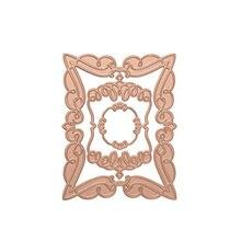 Elegant Rectangle Background Metal Hot Foil Plates for DIY Scrapbooking Letterpress Embossing Cards Crafts 2019