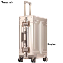 "TRAVEL TALE 1809 aluminum travel suitcase hard travel trolly case new aluminium luggage 20""24""26""29"" inch"