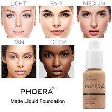 PHOERA 10 Colors Foundation Makeup Liquid Foundation Matte Oil Control  Concealer Cream maquillage 1 PC недорого