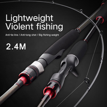 NEW 2.4m Carbon Spinning Fishing Rod carbon fishing Tackle Lure Casting Canne Spinnng Leurre
