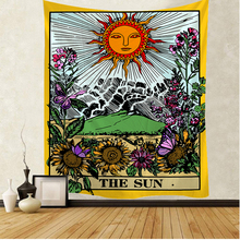 Tarot card the sun tapestry Mandala Tapestry Hippie Macrame Tapestry Wall Hanging Boho Decor  Witchcraft Tapestry