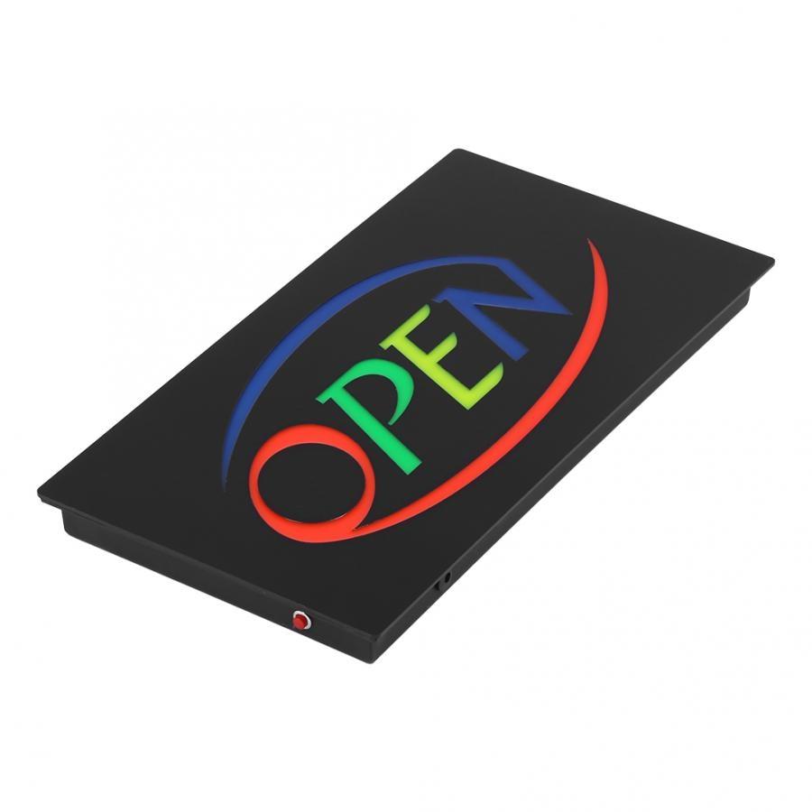 AU Plug Super Bright Resin Led Open Sign Board Pub Club Window Display Light  For Shop