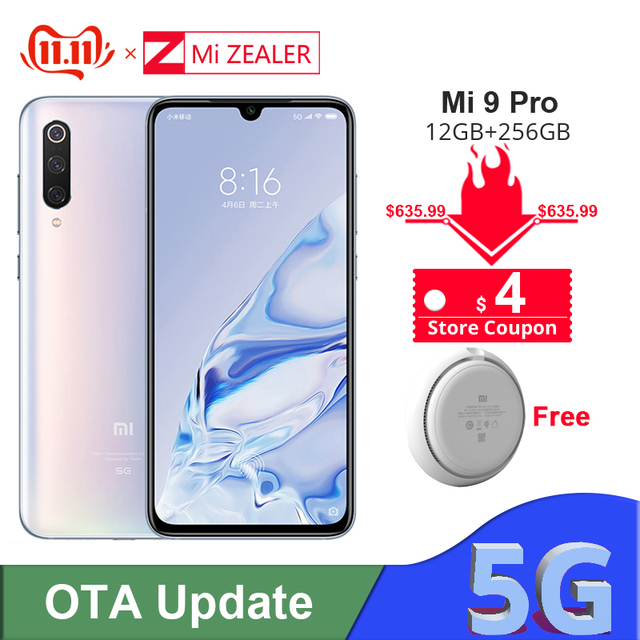 Original Xiaomi Mi 9 Pro 5G Snapdargon 855 Plus 12GB RAM 256GB ROM  48MP AI Camera 4000 mAh Battery Smartphone