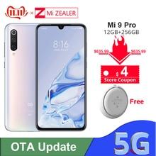 Originele Xiao mi mi 9 pro 5G snapdargon 855 Plus 12 Gb ram 256GB rom 48MP AI CAMERA 4000 mAh Batterij Smartphone