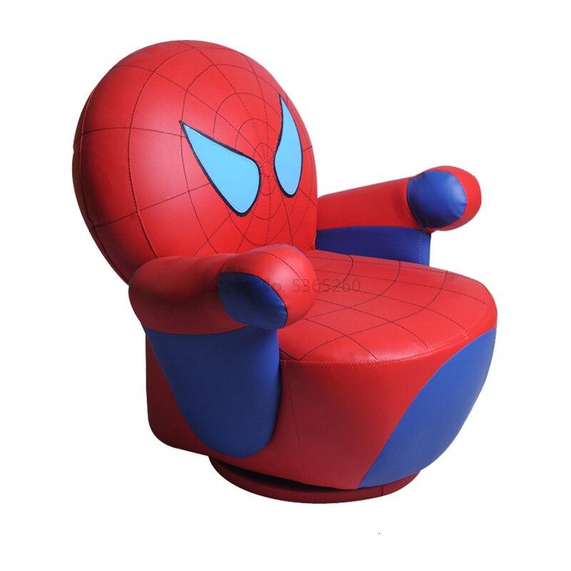 Spiderman Read Swivel Children Sofa Chair Cartoon Small Lazy People Baby Sofa Bean Bag Zitzak Kids Bedroom One Seat