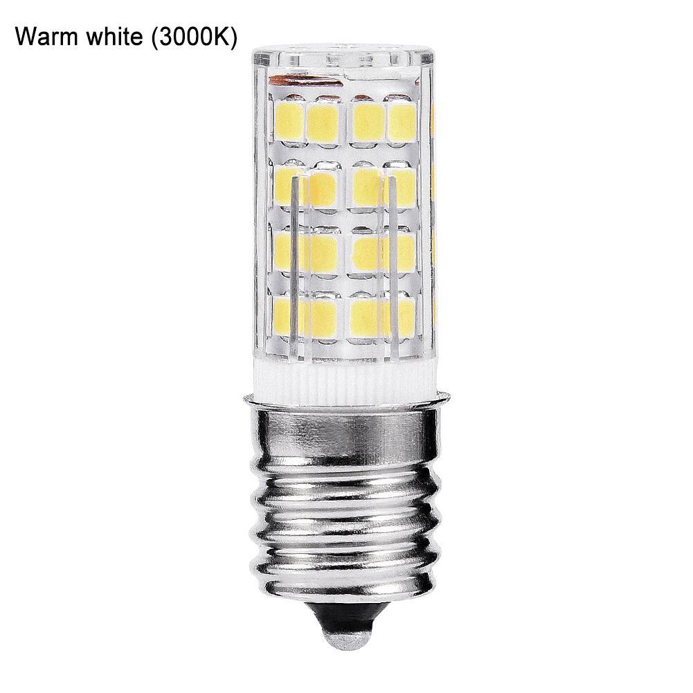 Microwave Ovens LED Bulb 110v 4w E17 6000k Ceramic Bulb For Household Appliances Microwave Light Bulb Freezer Lamp Cold White