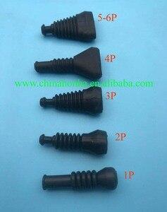 100 unids/lote 1 2 3 4 5 6 vías/Pin Superseal forAMP/Tyco botas impermeables de goma/manga conectores