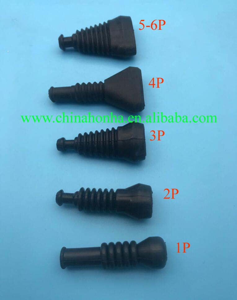 100pcs/lot 1 2 3 4 5 6 Way/Pin Superseal ForAMP/Tyco Rubber Waterproof Boots/Sleeve Connectors