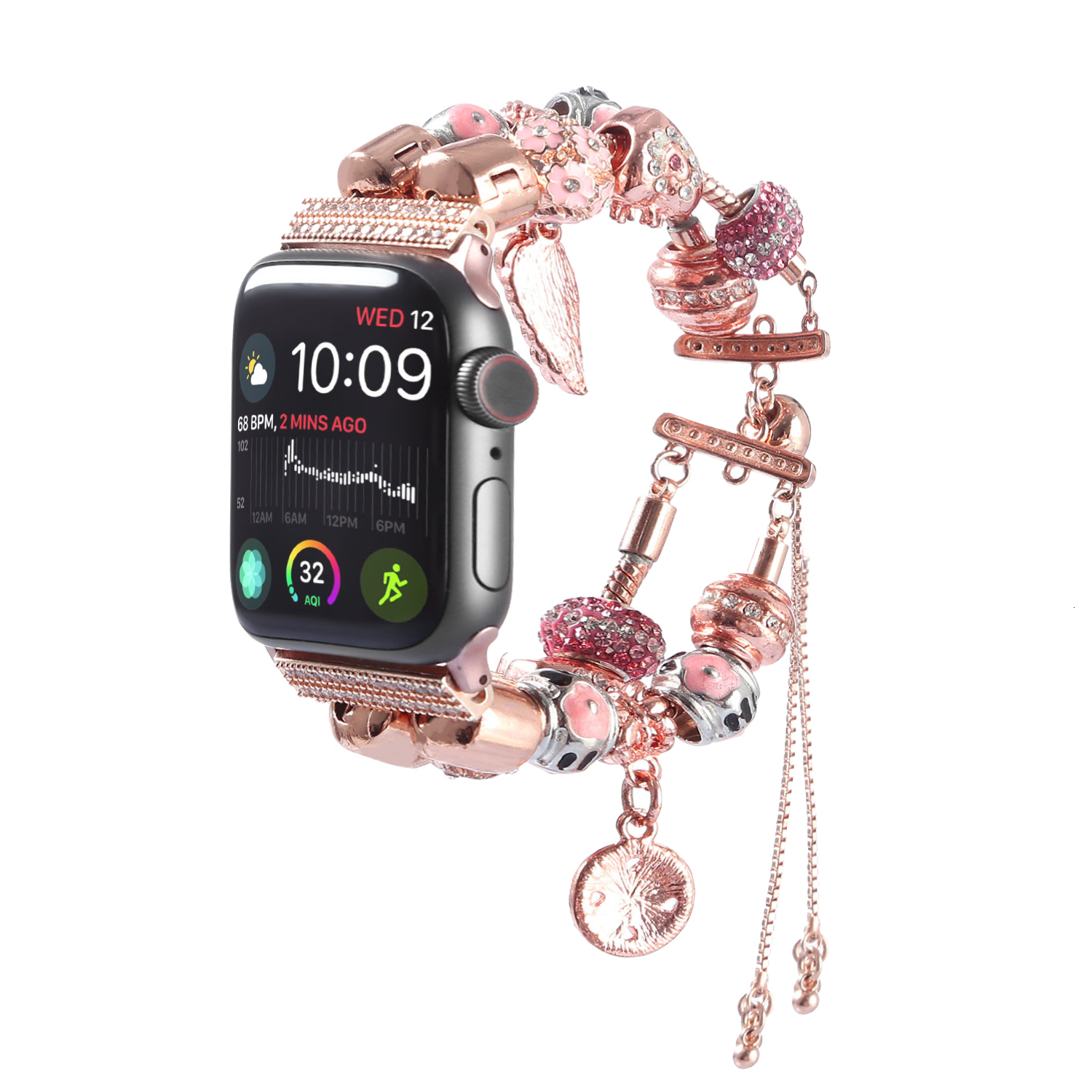 DIY Women Watch Strap For Apple Watch 5 4 Band 44mm Iwatch Sport Bands 42mm Accessories 40mm Series 3 2 Bracelet 38mm Watchband