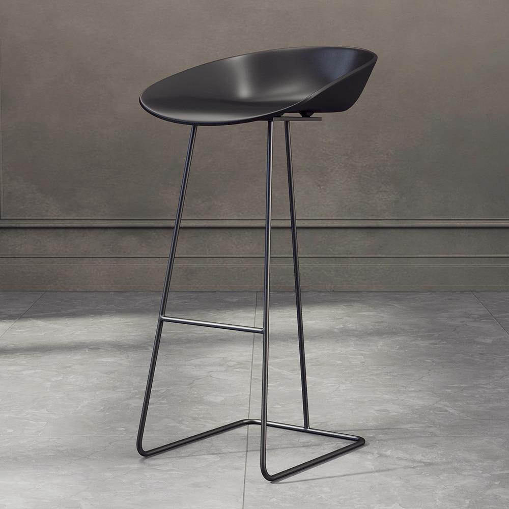 65/70/75cm Nordic Bar Stool Chair High Chair Minimalist Modern Restaurant Office Dining Room Furniture Set Wrought Iron Creative