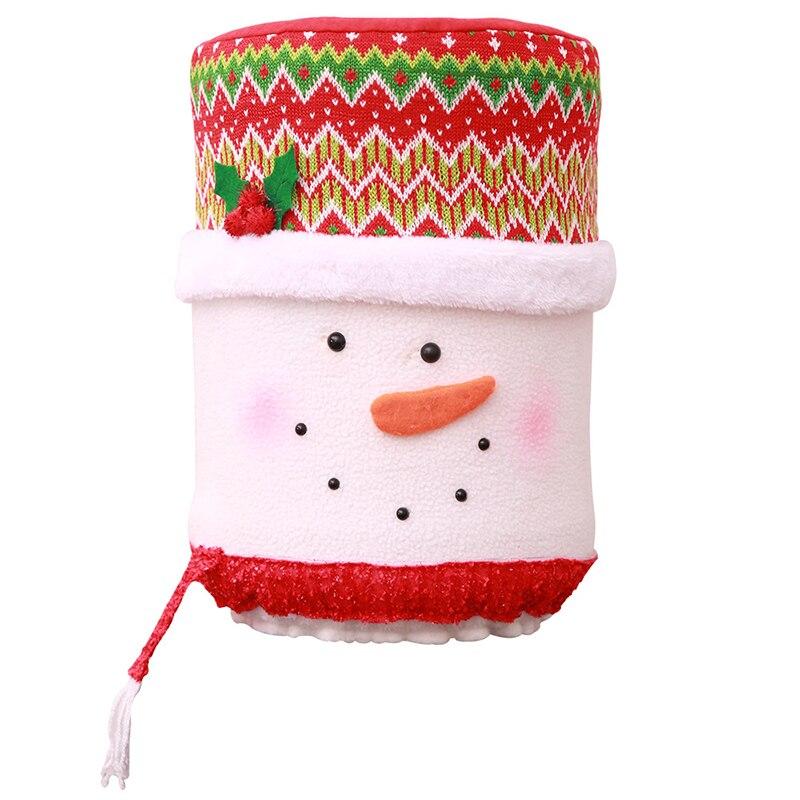 Рождественская Пылезащитная крышка воды емкостный диспенсер контейнер очиститель бутылки Рождественский Декор пылезащитный инструмент домашнее украшение - Цвет: snowman