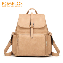 POMELOS Backpack Women 2019 Fashion Shoulder Womens Bag PU Leather Luxury Vintage Ladies Woman Bagpack Female