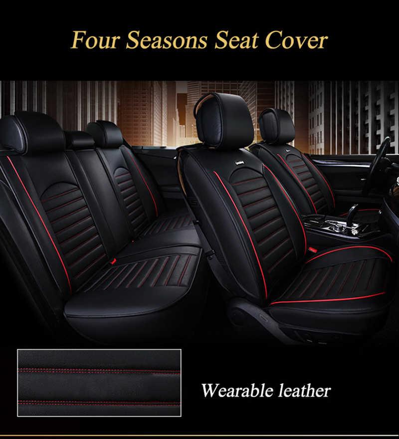 Чехлы Kalaisike для автомобильных сидений, универсальные кожаные чехлы для Hyundai, все модели i30 ix25 ix35 solaris, elantra, terracan, accent, azera, lantra