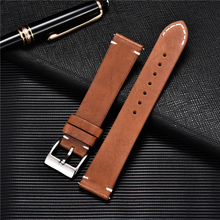 Quick Release Leather Watchbands 18mm 20mm 22m 24mm Casual Belt Smart Watch Strap Soft Matte Bracelet Wrist Watch Band