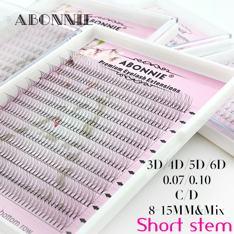 Abonnie Large Premade Fans 3d/4d/5d/6d Short Stem Lash Russian Volume Eyelash Extensions Pre Made Lash Extension Faux Mink